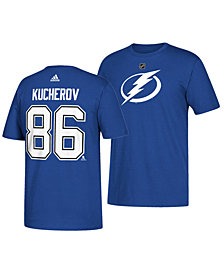 adidas Men's Nikita Kucherov Tampa Bay Lightning Silver Player T-Shirt