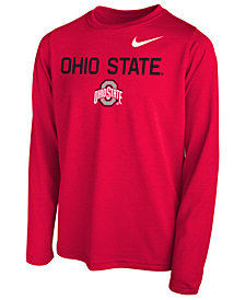 Nike Ohio State Buckeyes Legend Long Sleeve T-Shirt, Little Boys (4-7)