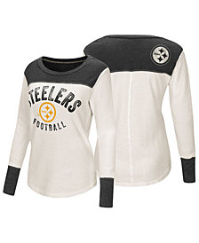 Touch by Alyssa Milano Women's Pittsburgh Steelers Thermal Long Sleeve T-Shirt