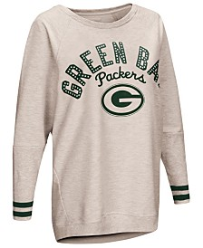 Touch by Alyssa Milano Women's Green Bay Packers Backfield Long Sleeve Top