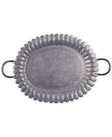 Home Essentials Galvanized Oval Tray