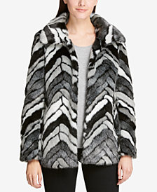 DKNY Faux-Fur Coat