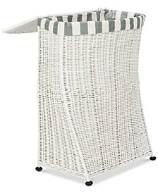 Trotter Rattan Laundry Basket, Quick Ship