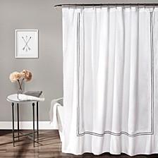 "Striped Border 72""x 72"" Shower Curtain"