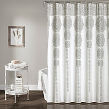 "Stripe Medallion 72""x 72"" Shower Curtain"