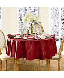 "Elrene Barcelona  Red 70"" Round Tablecloth"