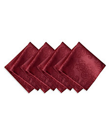 Elrene Barcelona  Burgundy Set of 4 Napkins