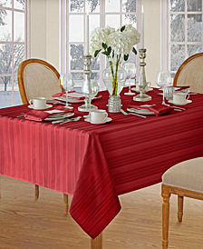 Elrene Denley Stripe Red Table Linen Collection