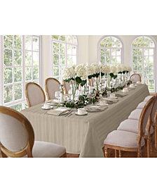 "Elrene Denley Stripe Gray 52"" x 70"" Tablecloth"