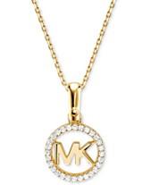 f65e787d01d5 Michael Kors Women s Custom Kors Sterling Silver Logo Starter Necklace