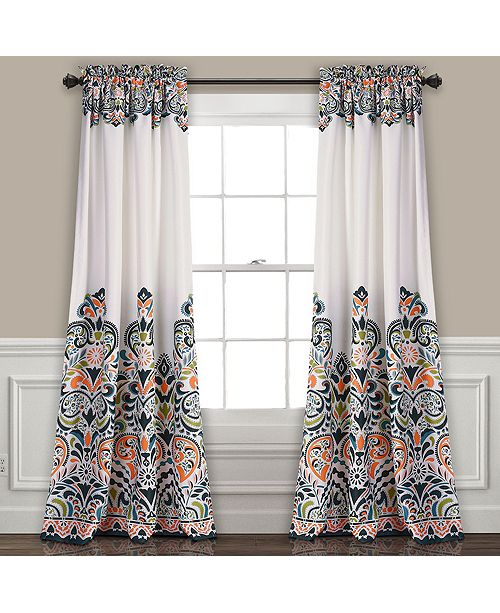 "Lush Decor Clara 52"" x 84"" Bohemian Print Curtain Set"
