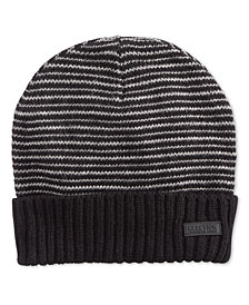 Kenneth Cole Reaction Men's Striped-Cuff Beanie