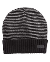 Kenneth Cole Reaction Men s Striped-Cuff Beanie 3c46fa05401