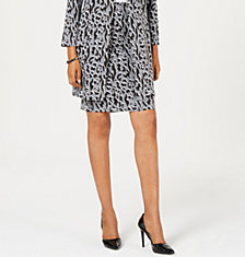 Alfani Petite Printed Jacquard Pencil Skirt, Created for Macy's