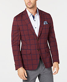 Tasso Elba Men's Knit Windowpane Stretch Blazer, Created for Macy's