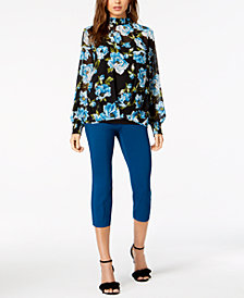 Alfani Printed Top & Skinny Pants, Created for Macy's