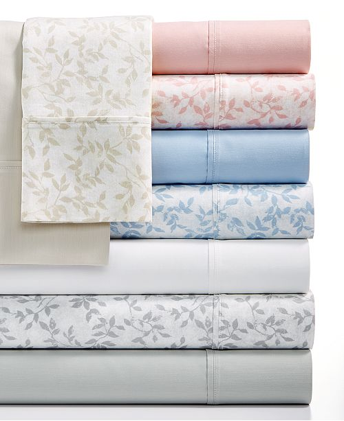Sunham Norvara 500 Thread Count 6-Pc. Printed and Solid Sheet Sets