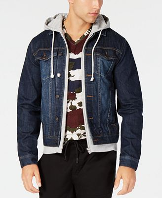 American Rag Men S Hooded Denim Jacket Created For Macy S Coats