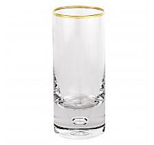 Galaxy Gold Rim Shot Glasses - Set of 6