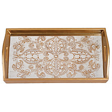 Manta Gold Eglimose 18 Inch Rectangle Tray
