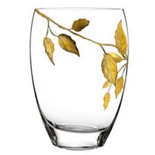 Gold Leaves 12 Inch Vase