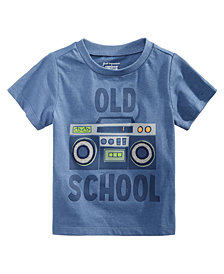 First Impressions Toddler Boys School-Print Cotton T-Shirt, Created for Macy's