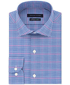 Tommy Hilfiger Men's Classic/Regular TH Flex Non-Iron Supima Stretch Check Dress Shirt