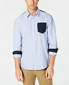 American Rag Men's Philbin Colorblocked Shirt, Created for Macy's