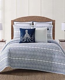 Oceanfront Resort Reef Blue Quilt Set Collection