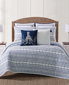 Oceanfront Resort Reef Blue Full/Queen Quilt Set
