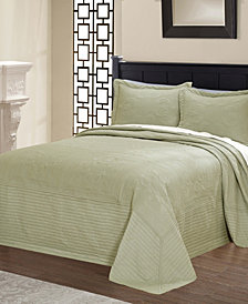 French Tile Quilted King Bedspread