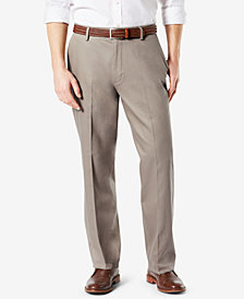 NEW Dockers Men's Signature Lux Cotton Relaxed-Fit Flat-Front Creased Stretch Khaki Pants