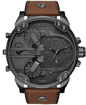 0a90549aff49 Diesel Men s Chronograph Mr. Daddy 2.0 Brown Leather Strap Watch 57mm