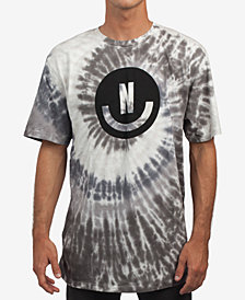 Neff Men's Smiley Wash Tie-Dyed Logo Graphic T-Shirt