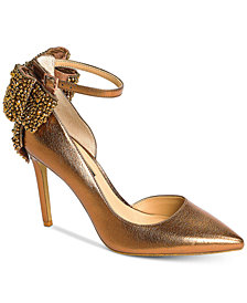 I.N.C. Kaison Evening Bow Pumps, Created for Macy's