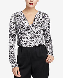 RACHEL Rachel Roy Axel Leopard-Print Top, Created for Macy's