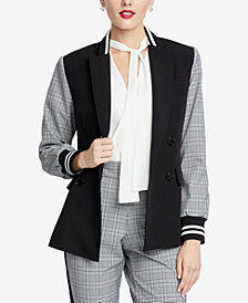 RACHEL Rachel Roy Peyton Plaid-Contrast Blazer, Created for Macy's