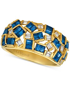 Le Vian® Baguette Frenzy™ Sapphire (1-3/4 ct. t.w.) & Diamond (1/5 ct. t.w.) Ring in 14K Gold