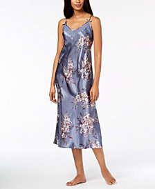 Thalia Sodi Printed Woven Lace-Trim Nightgown, Created for Macy's