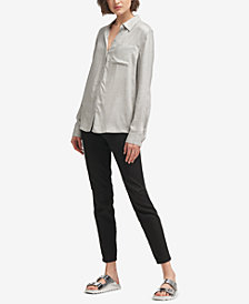 DKNY Button-Down Collared Shirt, Created for Macy's