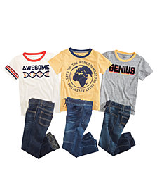 Epic Threads Toddler Boys Graphic T-Shirts & Denim Jeans Separates, Created for Macy's