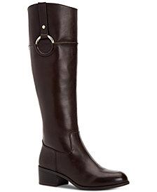 Alfani Women's Step 'N Flex Briaah Wide-Calf Riding Boots, Created for Macy's