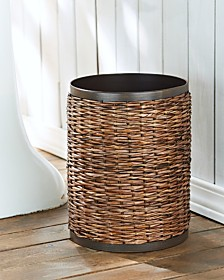 CLOSEOUT! Tommy Bahama Retreat Wicker Wastebasket