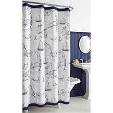 City Scene Cape Island Shower Curtain Collection