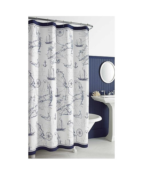 City Scene Cape Island 72 X 96 Shower Curtain