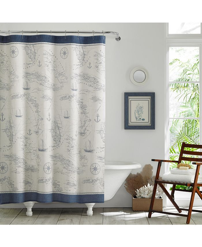 Tommy Bahama Home - Caribbean Sea Shower Curtain
