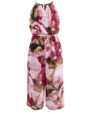 Sequin Hearts Big Girls FloralPrint Jumpsuit