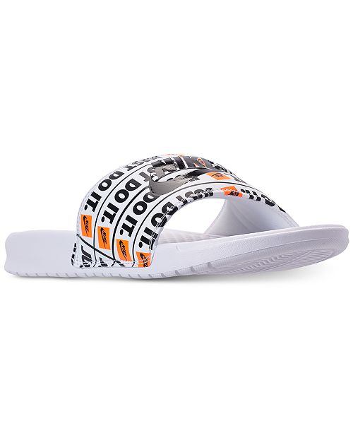 53404e956745 Nike Men s Benassi Just Do It Print Slide Sandals from Finish Line ...