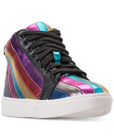 Steve Madden Little Girls' JSpirit High Top Casual Sneakers from Finish Line