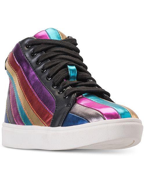 037c4ff0dde Steve Madden Little Girls  JSpirit High Top Casual Sneakers from Finish ...
